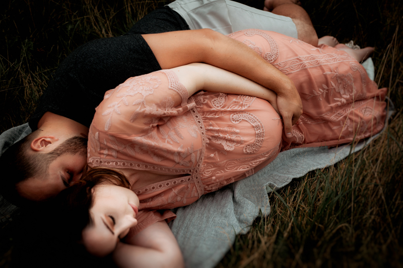 """""""Colorful and connected Family maternity portrait by Megan Marie Photographer."""""""
