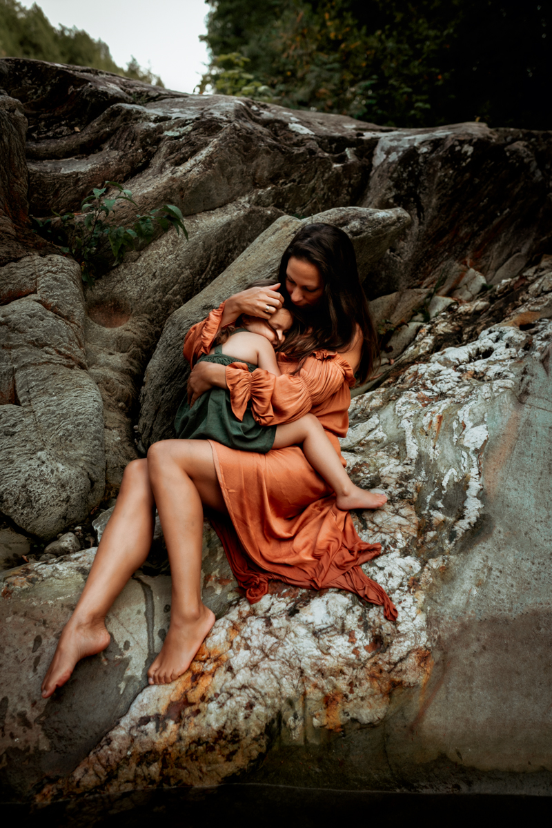 """""""Colorful and connected Family portrait of mother and daughter by Megan Marie Photographer."""""""