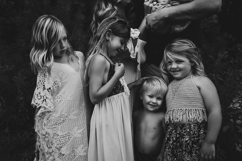 """""""Black and white family photograph by Megan Marie Photographer."""""""