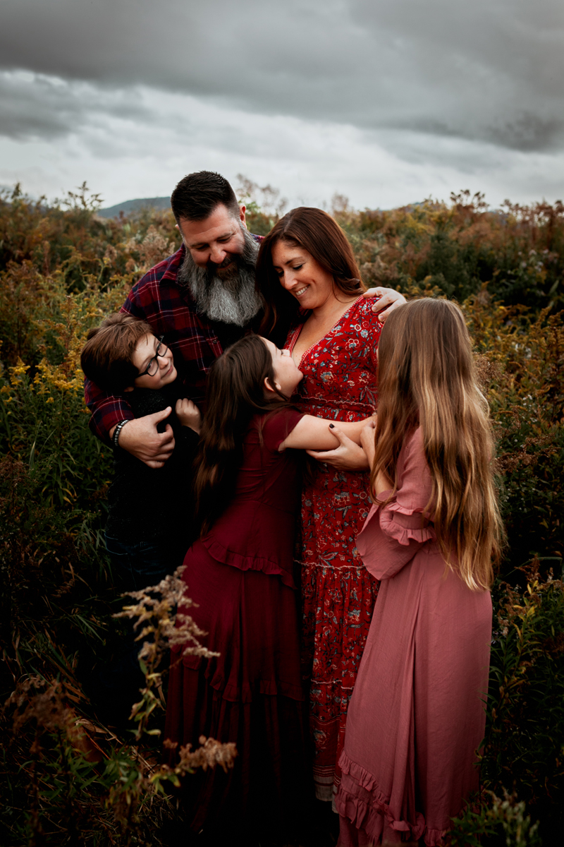 """""""Family photograph at Smugglers Notch Resort, Vermont, by Megan Marie Photographer."""""""